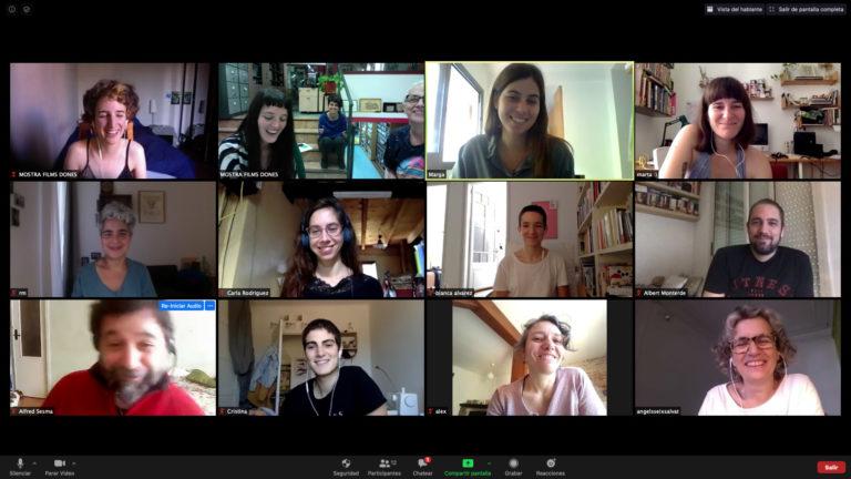 Reunió de coordinació de l'equip durant el confinament de 2020
