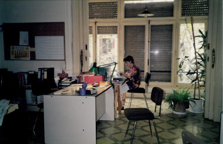 Gemma Surribas a l'oficina del carrer València